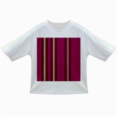 Stripes Background Wallpaper In Purple Maroon And Gold Infant/Toddler T-Shirts