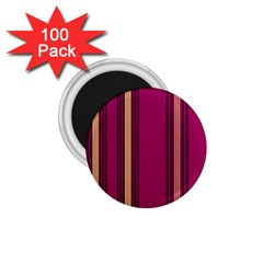 Stripes Background Wallpaper In Purple Maroon And Gold 1.75  Magnets (100 pack)
