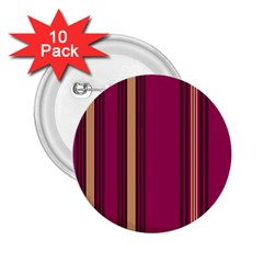 Stripes Background Wallpaper In Purple Maroon And Gold 2.25  Buttons (10 pack)