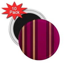 Stripes Background Wallpaper In Purple Maroon And Gold 2.25  Magnets (10 pack)