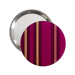 Stripes Background Wallpaper In Purple Maroon And Gold 2.25  Handbag Mirrors