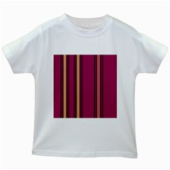 Stripes Background Wallpaper In Purple Maroon And Gold Kids White T Shirts