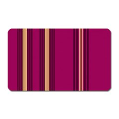 Stripes Background Wallpaper In Purple Maroon And Gold Magnet (rectangular)