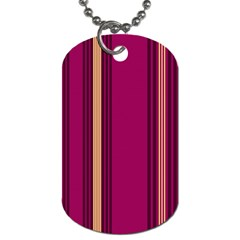 Stripes Background Wallpaper In Purple Maroon And Gold Dog Tag (one Side)