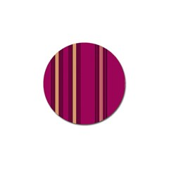 Stripes Background Wallpaper In Purple Maroon And Gold Golf Ball Marker (10 Pack)