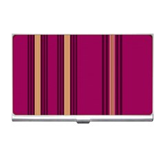 Stripes Background Wallpaper In Purple Maroon And Gold Business Card Holders