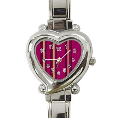 Stripes Background Wallpaper In Purple Maroon And Gold Heart Italian Charm Watch