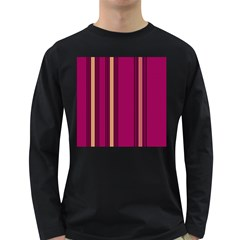 Stripes Background Wallpaper In Purple Maroon And Gold Long Sleeve Dark T-Shirts