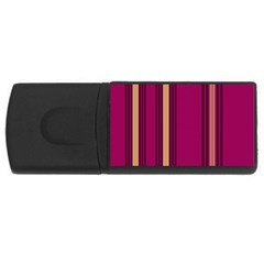 Stripes Background Wallpaper In Purple Maroon And Gold USB Flash Drive Rectangular (4 GB)