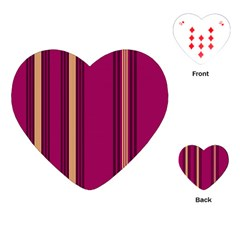 Stripes Background Wallpaper In Purple Maroon And Gold Playing Cards (heart)
