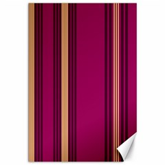 Stripes Background Wallpaper In Purple Maroon And Gold Canvas 12  X 18
