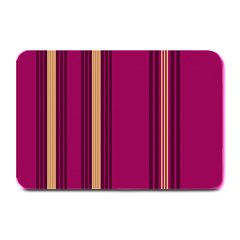 Stripes Background Wallpaper In Purple Maroon And Gold Plate Mats