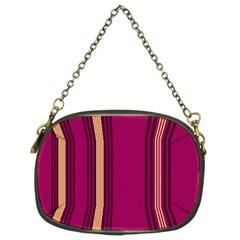 Stripes Background Wallpaper In Purple Maroon And Gold Chain Purses (two Sides)