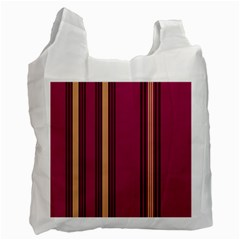 Stripes Background Wallpaper In Purple Maroon And Gold Recycle Bag (one Side)
