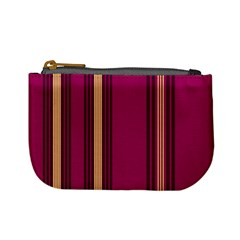 Stripes Background Wallpaper In Purple Maroon And Gold Mini Coin Purses