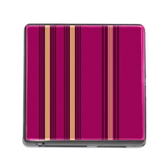 Stripes Background Wallpaper In Purple Maroon And Gold Memory Card Reader (square)