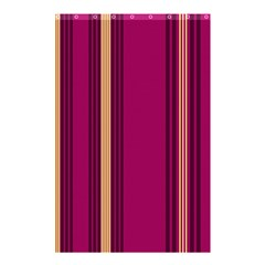 Stripes Background Wallpaper In Purple Maroon And Gold Shower Curtain 48  X 72  (small)