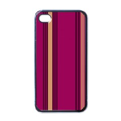 Stripes Background Wallpaper In Purple Maroon And Gold Apple Iphone 4 Case (black)