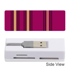 Stripes Background Wallpaper In Purple Maroon And Gold Memory Card Reader (stick)