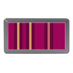Stripes Background Wallpaper In Purple Maroon And Gold Memory Card Reader (Mini)