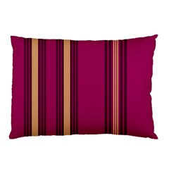 Stripes Background Wallpaper In Purple Maroon And Gold Pillow Case (Two Sides)