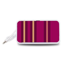Stripes Background Wallpaper In Purple Maroon And Gold Portable Speaker (White)