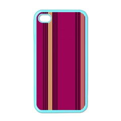Stripes Background Wallpaper In Purple Maroon And Gold Apple iPhone 4 Case (Color)