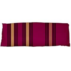 Stripes Background Wallpaper In Purple Maroon And Gold Body Pillow Case (Dakimakura)