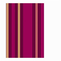 Stripes Background Wallpaper In Purple Maroon And Gold Small Garden Flag (Two Sides)
