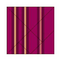 Stripes Background Wallpaper In Purple Maroon And Gold Acrylic Tangram Puzzle (6  x 6 )