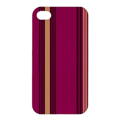 Stripes Background Wallpaper In Purple Maroon And Gold Apple iPhone 4/4S Premium Hardshell Case
