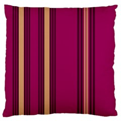 Stripes Background Wallpaper In Purple Maroon And Gold Large Cushion Case (One Side)