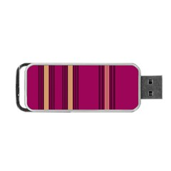 Stripes Background Wallpaper In Purple Maroon And Gold Portable USB Flash (Two Sides)