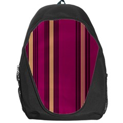 Stripes Background Wallpaper In Purple Maroon And Gold Backpack Bag
