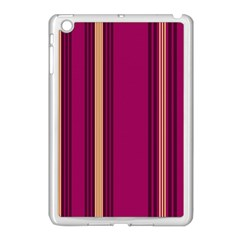 Stripes Background Wallpaper In Purple Maroon And Gold Apple Ipad Mini Case (white)