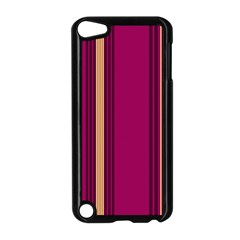 Stripes Background Wallpaper In Purple Maroon And Gold Apple Ipod Touch 5 Case (black)
