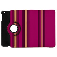 Stripes Background Wallpaper In Purple Maroon And Gold Apple Ipad Mini Flip 360 Case