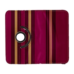 Stripes Background Wallpaper In Purple Maroon And Gold Galaxy S3 (flip/folio)