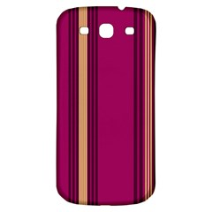 Stripes Background Wallpaper In Purple Maroon And Gold Samsung Galaxy S3 S III Classic Hardshell Back Case