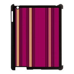 Stripes Background Wallpaper In Purple Maroon And Gold Apple Ipad 3/4 Case (black)