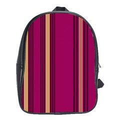 Stripes Background Wallpaper In Purple Maroon And Gold School Bags (XL)