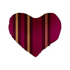 Stripes Background Wallpaper In Purple Maroon And Gold Standard 16  Premium Heart Shape Cushions