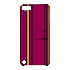 Stripes Background Wallpaper In Purple Maroon And Gold Apple iPod Touch 5 Hardshell Case with Stand