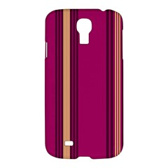 Stripes Background Wallpaper In Purple Maroon And Gold Samsung Galaxy S4 I9500/I9505 Hardshell Case