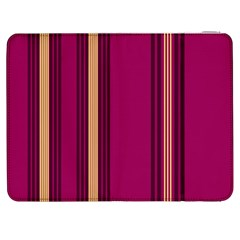 Stripes Background Wallpaper In Purple Maroon And Gold Samsung Galaxy Tab 7  P1000 Flip Case