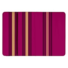 Stripes Background Wallpaper In Purple Maroon And Gold Samsung Galaxy Tab 8 9  P7300 Flip Case