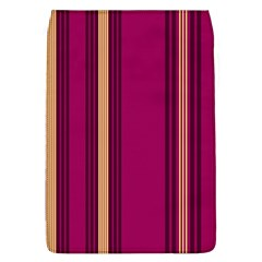 Stripes Background Wallpaper In Purple Maroon And Gold Flap Covers (L)