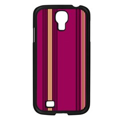 Stripes Background Wallpaper In Purple Maroon And Gold Samsung Galaxy S4 I9500/ I9505 Case (Black)