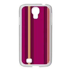 Stripes Background Wallpaper In Purple Maroon And Gold Samsung GALAXY S4 I9500/ I9505 Case (White)
