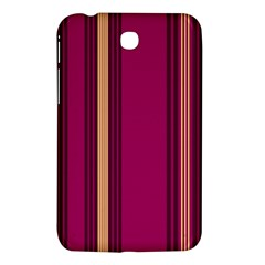 Stripes Background Wallpaper In Purple Maroon And Gold Samsung Galaxy Tab 3 (7 ) P3200 Hardshell Case